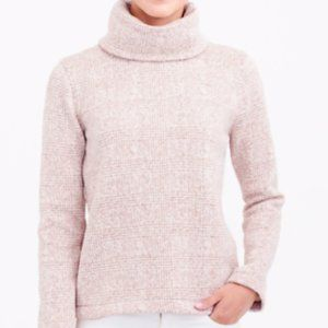 J.CREW factory Natural Glen Plaid Mock Neck Pullov